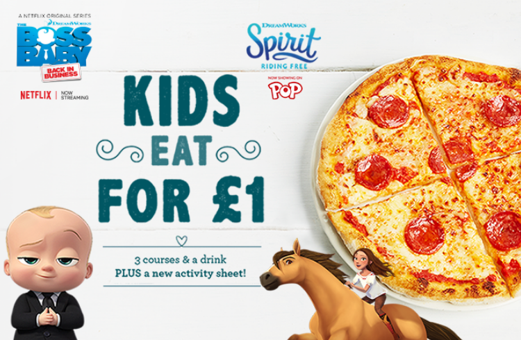 Bella Italia restaurant offer kids eat free
