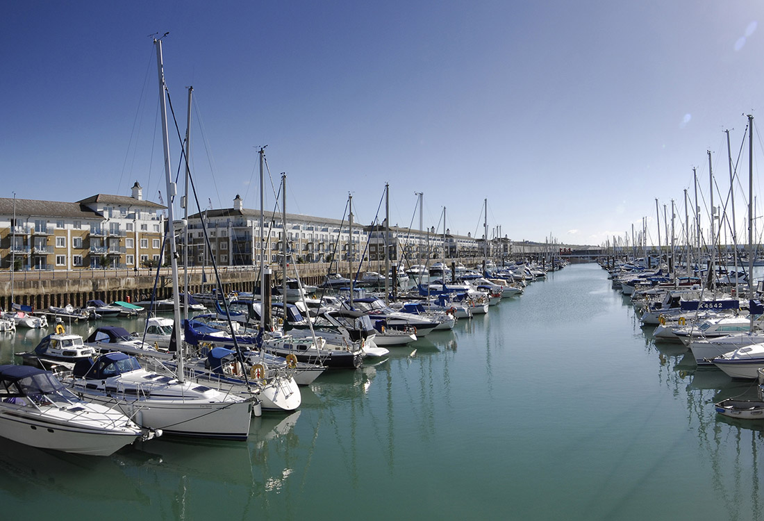 Boats at Brighton Marina