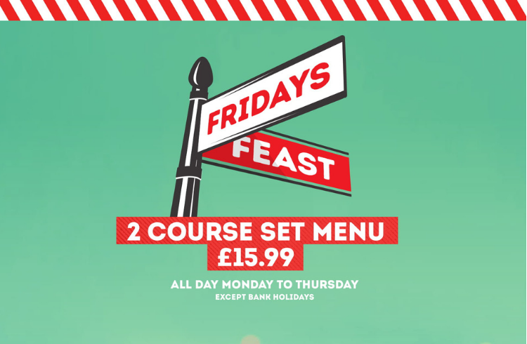 TGI Fridays restaurant offers
