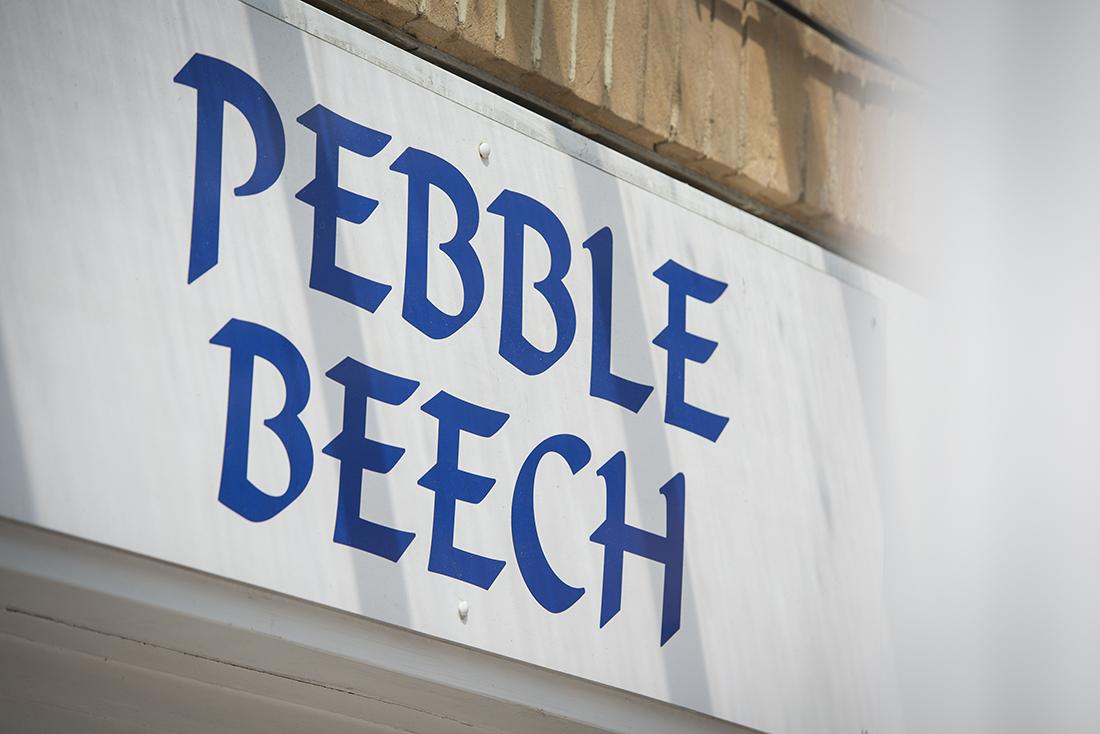Pebble beech sign