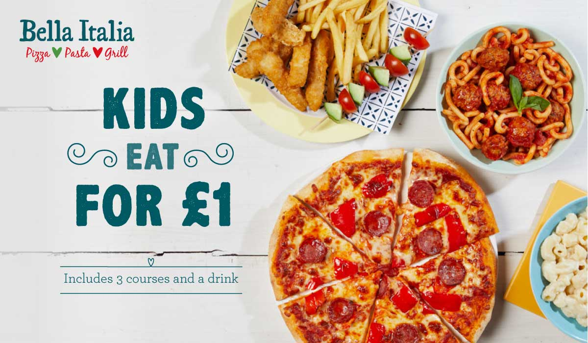 Kids eat £1 bella Italia