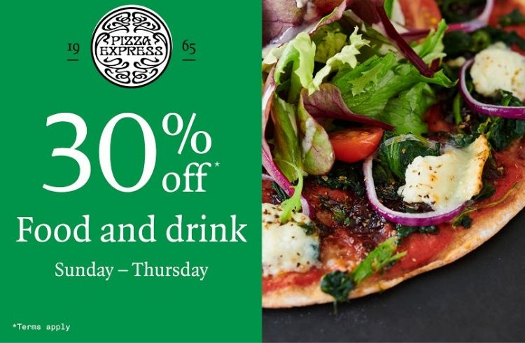 Pizza Express 30% off